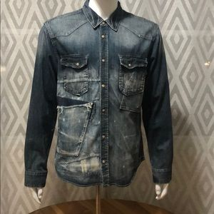 PRPS Distressed Denim Shirt